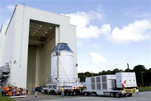 NASA's newest human spacecraft on the move