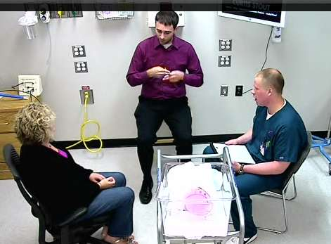Nursing students hone skills in simulation with deaf patients