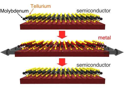 Stanford engineers envision an electronic switch just 3 atoms thick