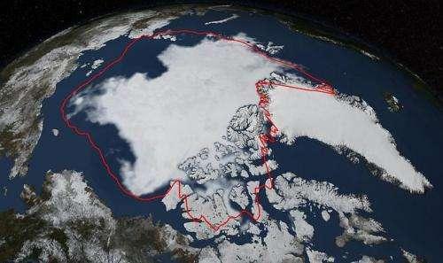 2014 Arctic sea ice minimum sixth lowest on record