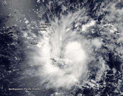NASA sees Tropical Storm 9 over Guam