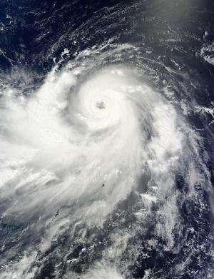NASA satellites see Neoguri grow into a super typhoon