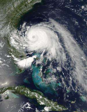 NASA sees Hurricane Arthur's cloud-covered eye