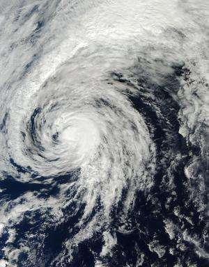 Satellite movie shows Tropical Storm Ana headed to British Columbia, Canada