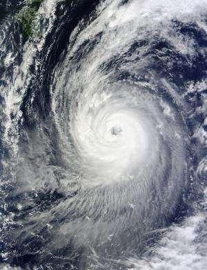 Two NASA satellites stare at Typhoon Phanfone's large eye