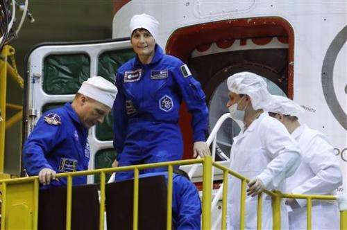 Space station rarity: Two women on long-term crew