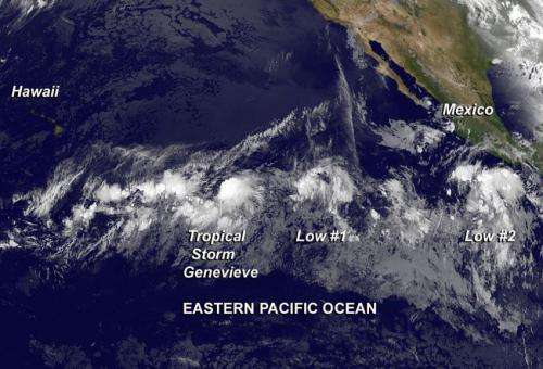 Tropical Storm Genevieve forms in Eastern Pacific