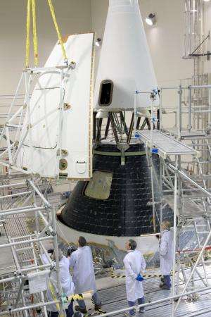Assembly complete for NASA's maiden Orion spacecraft launching in December 2014