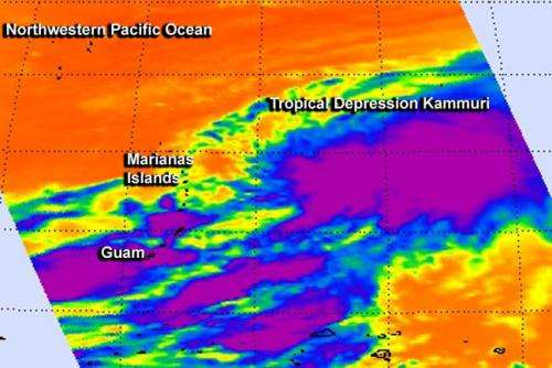 NASA sees System 98W become Tropical Depression Kammuri