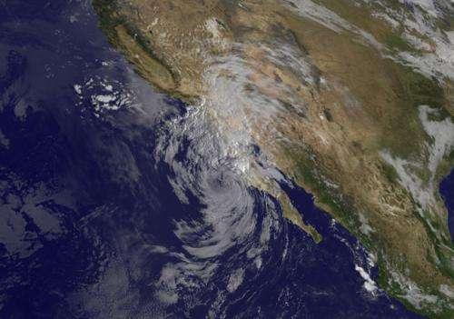 Satellite sees Tropical Storm Simon over Baja California