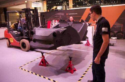 The world's first 3d-printed, drivable vehicle to debut