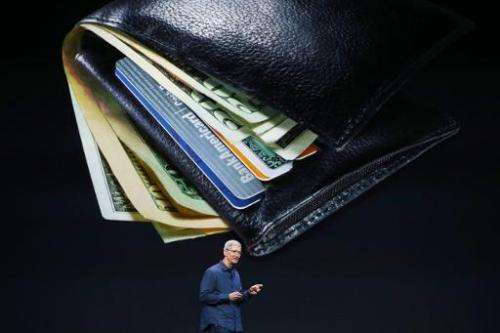 Apple CEO Tim Cook speaks about Apple Pay during an Apple special event at the Flint Center for the Performing Arts on September