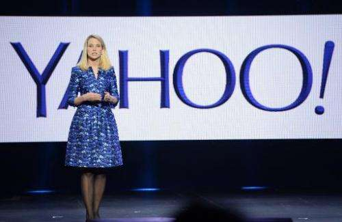 Yahoo CEO Marissa Mayer speaks during her keynote address at  the 2014 International CES in Las Vegas, Nevada on January 7, 2014