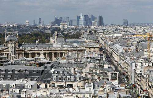 A general view of Paris from September 15, 2012
