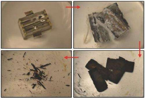 Battery dissolves in water, holds promise for biomedical implants
