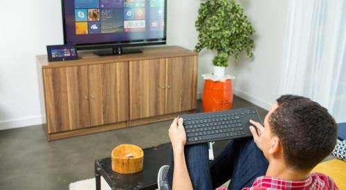All-in-One Media Keyboard offers navigation from the couch