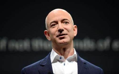 Amazon CEO Jeff Bezos introduces new Kindle products during a press conference in Santa Monica, California, September 6, 2012