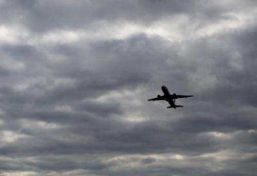 An Airbus A320 airplane takes off from a runway at Ronald Reagan Washington National Airport in Arlington, Virginia, September 2