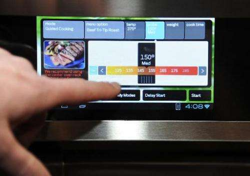 An Android 4.0 tablet on display at the International Consumer Electronics Show in Las Vegas on January 5, 2014