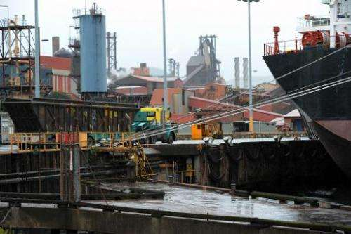 A truckload of coking coal arrives at the BlueScope Steel refinery in Port Kembla near Sydney on November 22, 2011