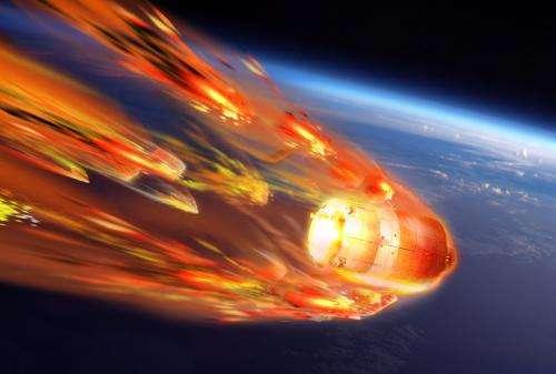ATV's fiery break-up to be seen from inside