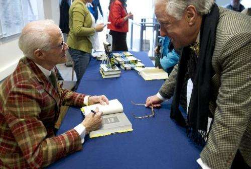 """Author Robin Cook signs copies of his new book """"Cell"""" at the Woodrow Wilson Center in Washington, DC on February 19, 2"""