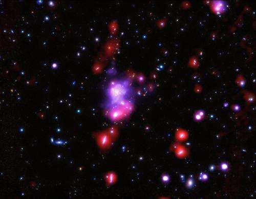 Chandra weighs most massive galaxy cluster in distant universe