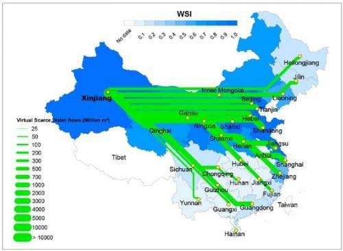 China's hidden water footprint