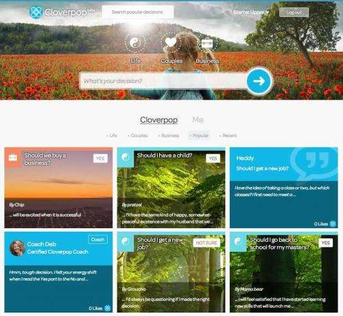 Cloverpop offers web site to help people make big decisions
