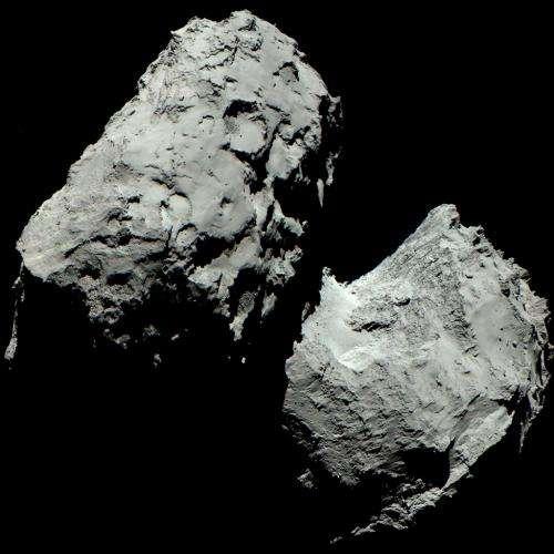 Comet 67p/c-g in living colour
