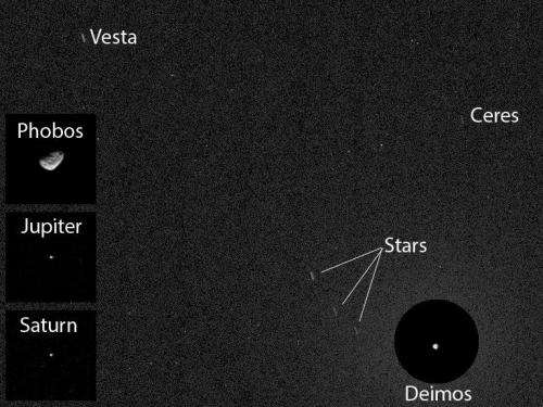 Curiosity spies asteroids from Mars surface for the first time
