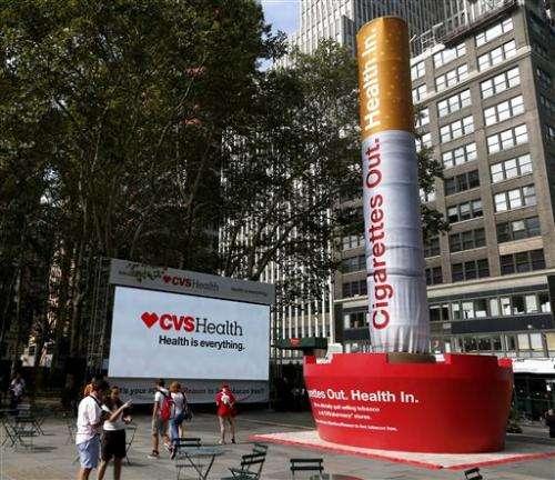 CVS tacks tobacco payment to prescription network