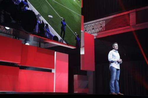 David Rutter, EA Executive Producer, speaks during the EA press conference for the Electronic Entertainment Expo on June 9, 2014
