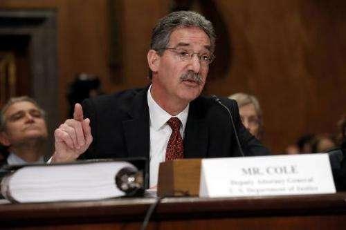 Deputy Attorney General James Cole in Washington, DC, on February 26, 2014