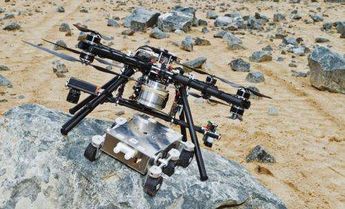 Dropship offers safe landings for Mars rovers
