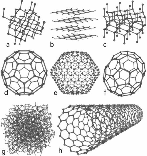 Eight carbon allotropes