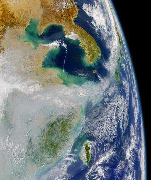 Air pollution boosts NW Pacific cyclones, study finds