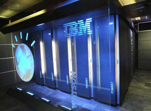File photo courtesy of IBM shows Watson, powered by IBM POWER7, a work-load optimized system that can answer questions posed in