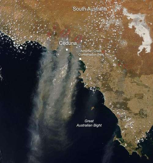 Fires in South Australia Jan. 16, 2014