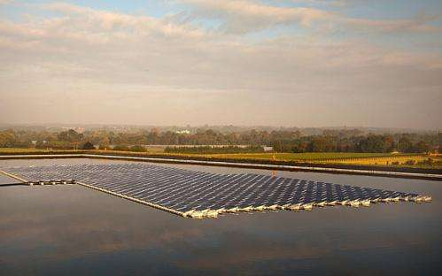 First floating solar farm in UK comes to life in Berkshire