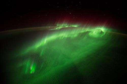 Flying Through an Aurora