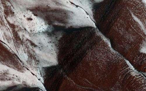 Frosty slopes on Mars