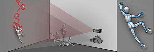 Game researchers develop an augmented climbing wall