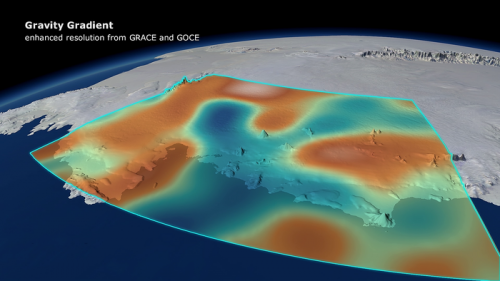 GOCE reveals gravity dip from ice loss