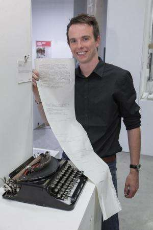 Graduate inventor captures the imagination with interactive typewriter