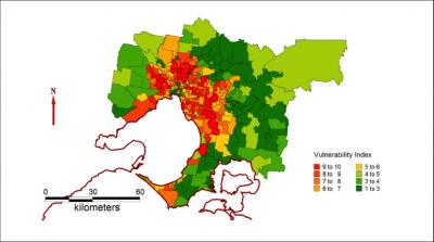 Heatwave map reveals Melbourne's most vulnerable postcodes