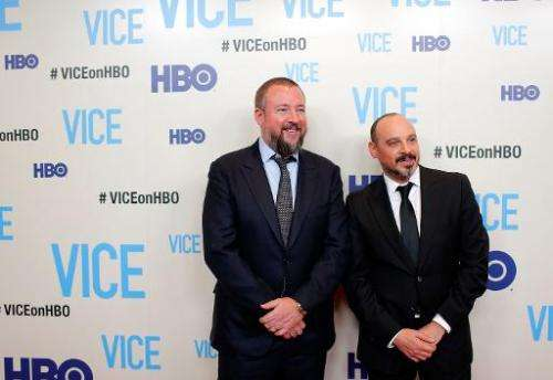 "Host and executive producer Shane Smith and executive producer Eddy Moretti attend the ""Vice"" New York Premiere at Tim"