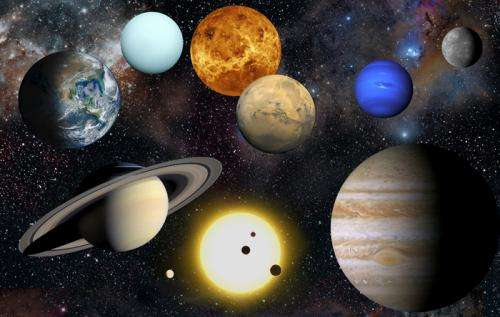 How far are the planets from the sun?