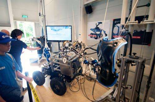 Image: Interact Robot Centaur designed for remote operation aboard the International Space Station