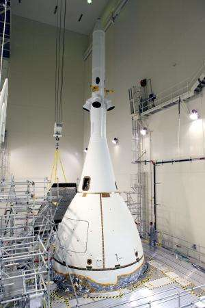 Image: Orion prepares to move to launch pad
